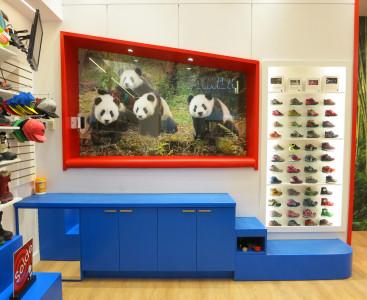 La cabane du bébé panda et de ses amis devient un siège d'essayage pour les enfants