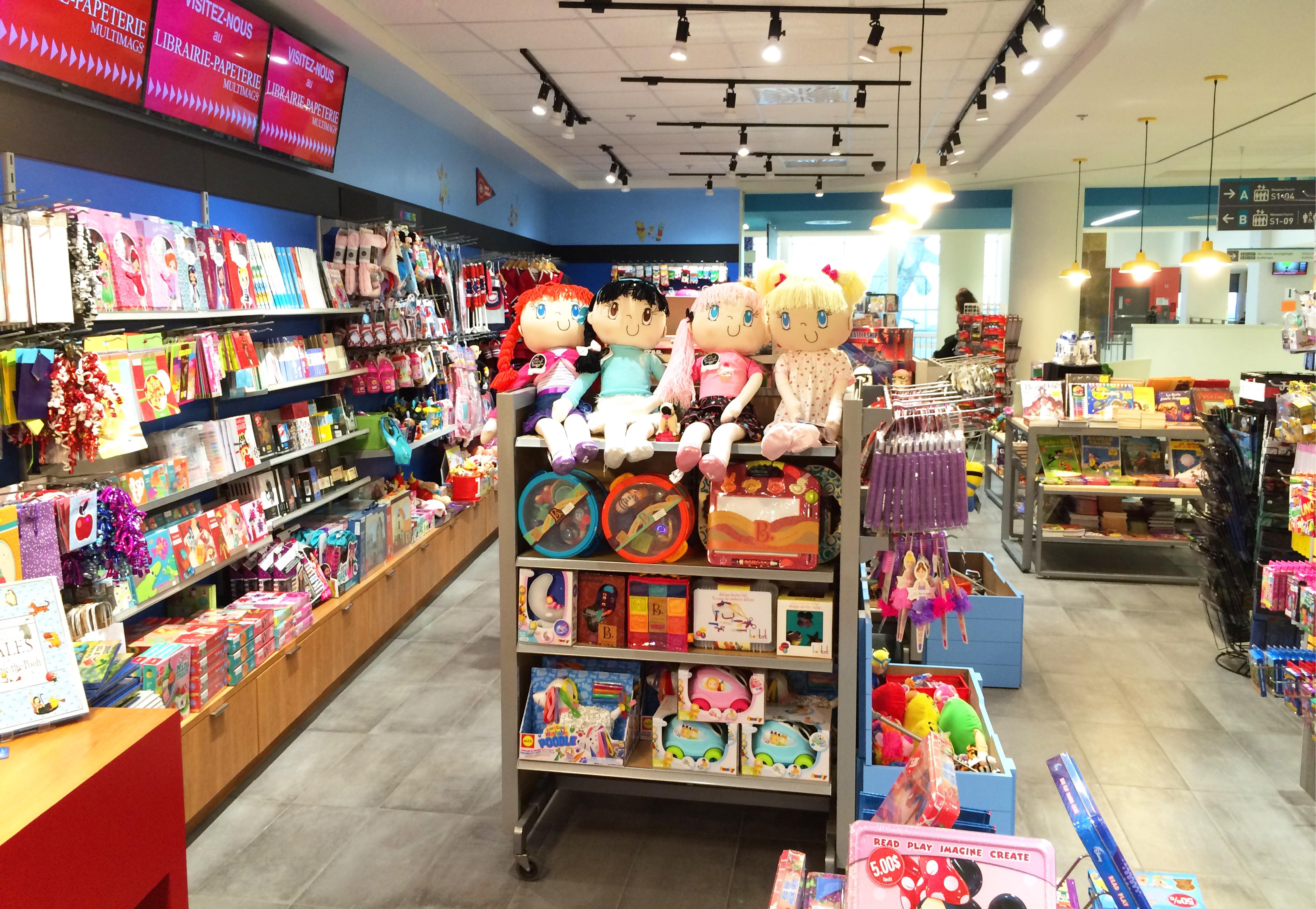 Multimags passe temps jouets store cusm montr al for Jouetstore