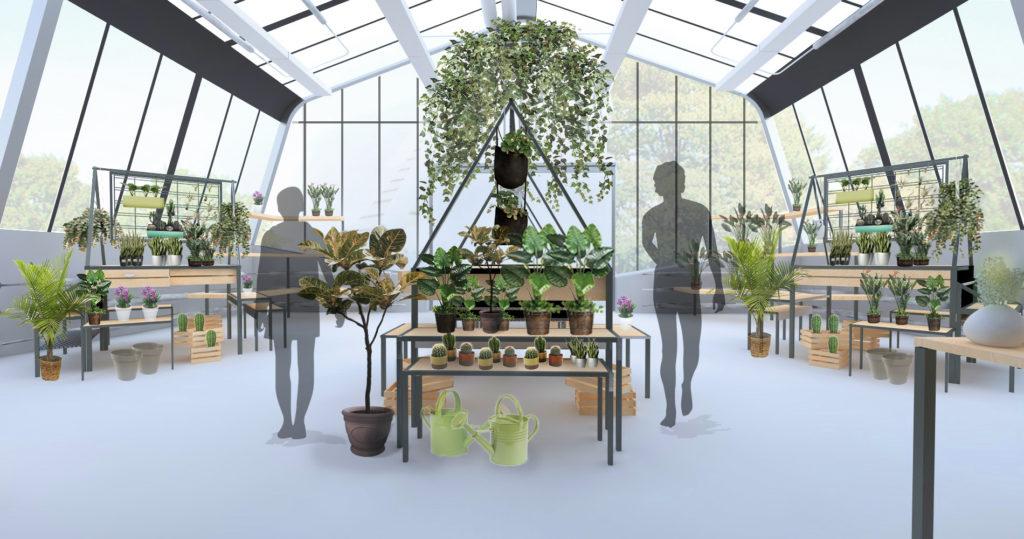 Jardinerie de la boutique du jardin botanique de montr al for Dans un jardin boutique
